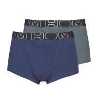 Underkläder  Herr Boxershorts Hom HOM BOXERLINES BOXER BRIEF HO1 PACK X2 Grå / Marin