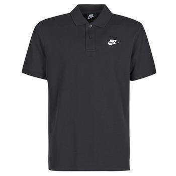 textil Herr Kortärmade pikétröjor Nike M NSW CE POLO MATCHUP PQ Svart / Vit