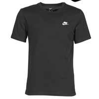 textil Herr T-shirts Nike M NSW CLUB TEE Svart / Vit
