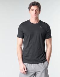 textil Herr T-shirts Nike M NK DRY TEE DFC CREW SOLID Svart / Vit