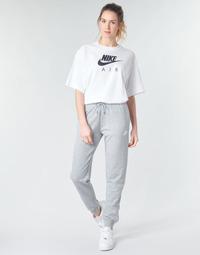 textil Dam Joggingbyxor Nike W NSW ESSNTL PANT REG FLC Grå / Vit