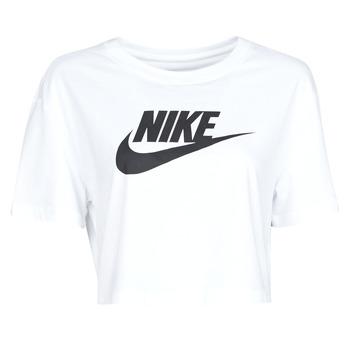 textil Dam T-shirts Nike W NSW TEE ESSNTL CRP ICN FTR Vit / Svart