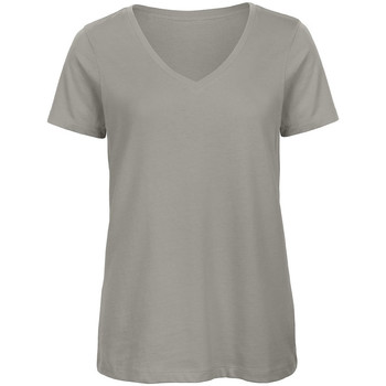textil Dam T-shirts B And C Organic Ljusgrå