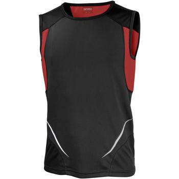textil Herr Linnen / Ärmlösa T-shirts Spiro Athletic Svart/röd