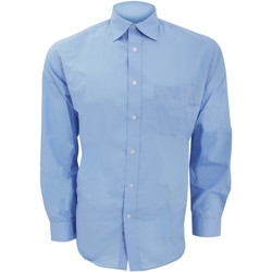 textil Herr Långärmade skjortor Kustom Kit KK104 Ljusblå