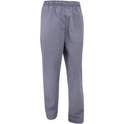 textil Joggingbyxor Dennys White Check Marinblått/vit