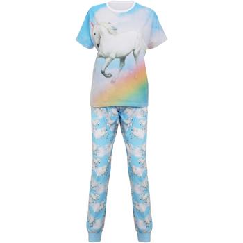 textil Dam Pyjamas/nattlinne Christmas Shop Unicorn Ljusblå enhörning