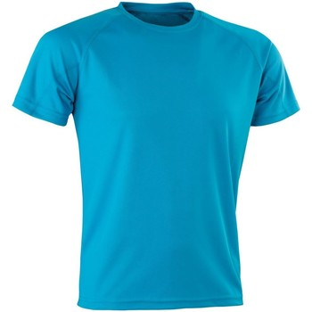 textil Herr T-shirts Spiro Aircool Havsblått