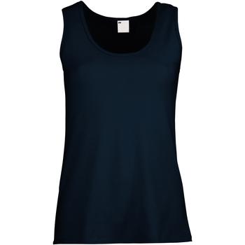 textil Dam Linnen / Ärmlösa T-shirts Universal Textiles Fitted Midnattsblå