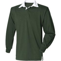 textil Herr Långärmade pikétröjor  Front Row Rugby Flaskegrön