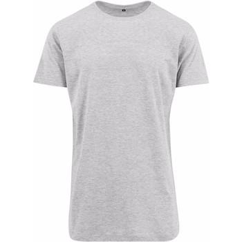 textil Herr T-shirts Build Your Brand Shaped Grått