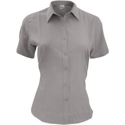 textil Herr Kortärmade skjortor Henbury HB596 Skiffergrått