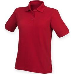 textil Dam Kortärmade pikétröjor Henbury HB401 Vintage röd