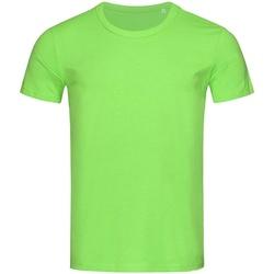 textil Herr T-shirts Stedman Stars Stars Grön blixt