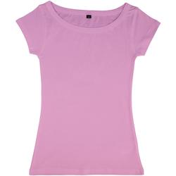textil Dam T-shirts Nakedshirt Boatneck Vild ros