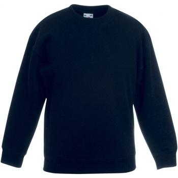 textil Barn Sweatshirts Fruit Of The Loom SS801 Svart