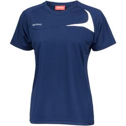 textil Dam T-shirts Spiro S182F Marinblått/vit