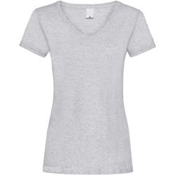 textil Dam T-shirts Universal Textiles Value Grå marl