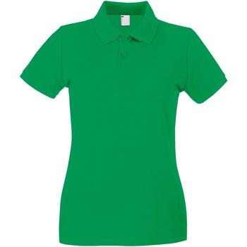 textil Dam Kortärmade pikétröjor Universal Textiles 63030 Ljusgrön