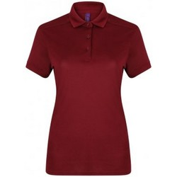 textil Dam Kortärmade pikétröjor Henbury HB461 Bourgogne