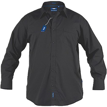 textil Herr Långärmade skjortor Duke  Svart