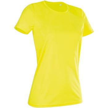 textil Dam T-shirts Stedman  Cyber Yellow