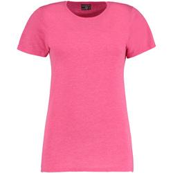 textil Dam T-shirts Kustom Kit Superwash Rosa marl
