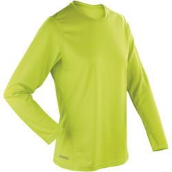 textil Dam Långärmade T-shirts Spiro S254F Lime Green