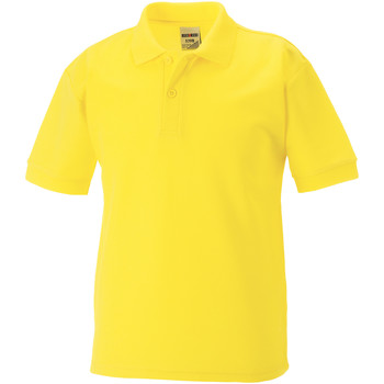 textil Pojkar Kortärmade pikétröjor Jerzees Schoolgear 65/35 Gul
