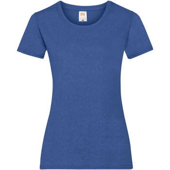 textil Dam T-shirts Fruit Of The Loom 61372 Retro Heather Royal