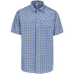 textil Herr Kortärmade skjortor Trespass Juba Blå ruta