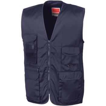 textil Herr Koftor / Cardigans / Västar Result R45X Marinblått