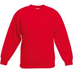 textil Barn Sweatshirts Fruit Of The Loom Classic Röd