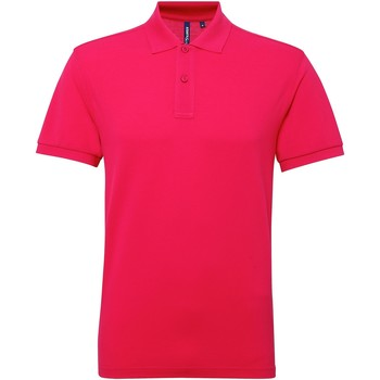 textil Herr Kortärmade pikétröjor Asquith & Fox AQ015 Varmrosa