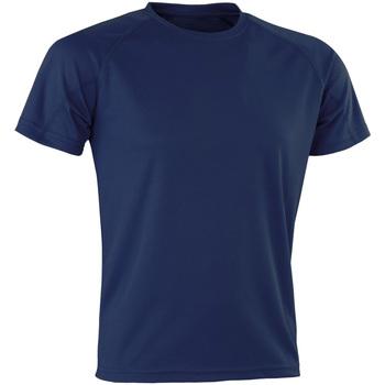 textil Herr T-shirts Spiro Aircool Marinblått