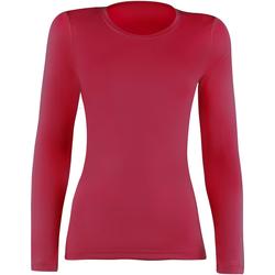 textil Dam Långärmade T-shirts Rhino  Röd