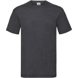 textil Herr T-shirts Fruit Of The Loom 61036 Mörk ljung