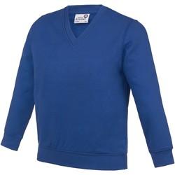 textil Barn Sweatshirts Awdis AC03J Djupt kungligt