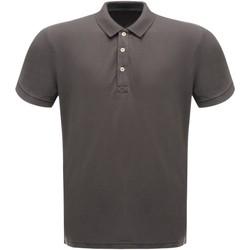 textil Herr Kortärmade pikétröjor Regatta RG300 Seal Grey