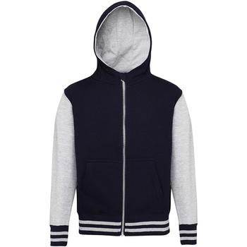 textil Barn Sweatshirts Awdis JH51J Oxford marinblått/ grått