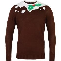 textil Herr Tröjor Christmas Shop CS155 Brun/vit