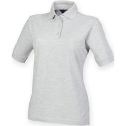 textil Dam Kortärmade pikétröjor Henbury HB401 Grått