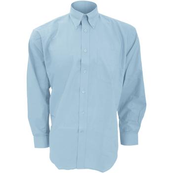 textil Herr Långärmade skjortor Kustom Kit KK351 Ljusblå