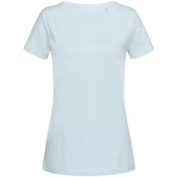 textil Dam T-shirts Stedman Stars Sharon Pulverblått
