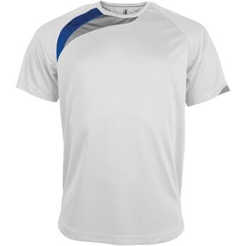textil Herr T-shirts Kariban Proact PA436 Vit/ Royal/ Storm Grey