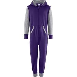 textil Barn Uniform Comfy Co CC03J Lila/Lädergrå