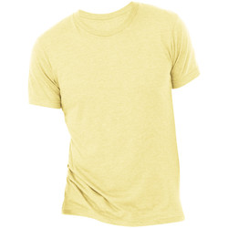 textil Herr T-shirts Bella + Canvas CA3413 Gult guld Triblend