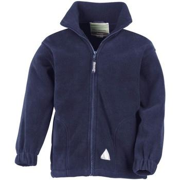 textil Barn Fleecetröja Result R36JY Marinblått