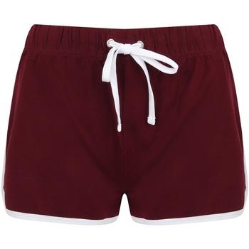 textil Dam Shorts / Bermudas Skinni Fit SK069 Bourgogne/vit