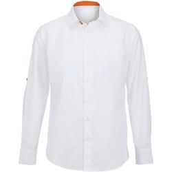 textil Herr Långärmade skjortor Alexandra Hospitality Vit/ orange